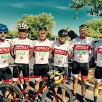 Depaula Racing Team group photo on a sunny afternoon ride
